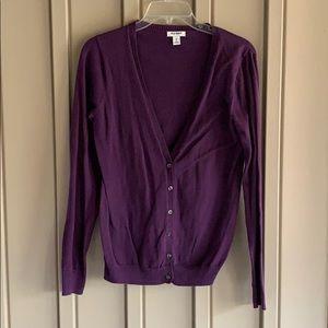 Purple Old Navy Button Cardigan Size Medium